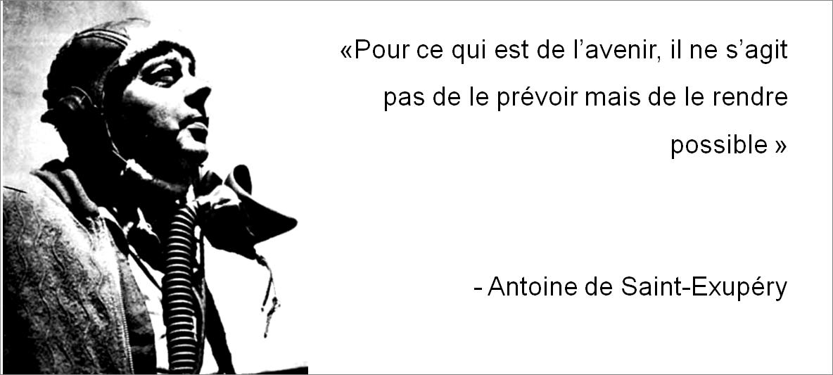 Antoine de St Exupery avenir